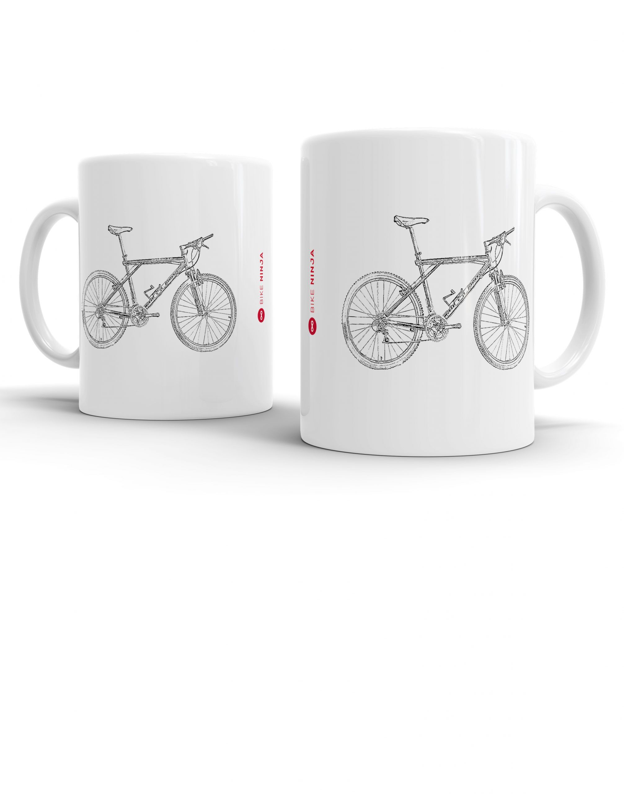 Bike Ninja Cycling Retro Bontrager MTB Jersey Mug Coaster