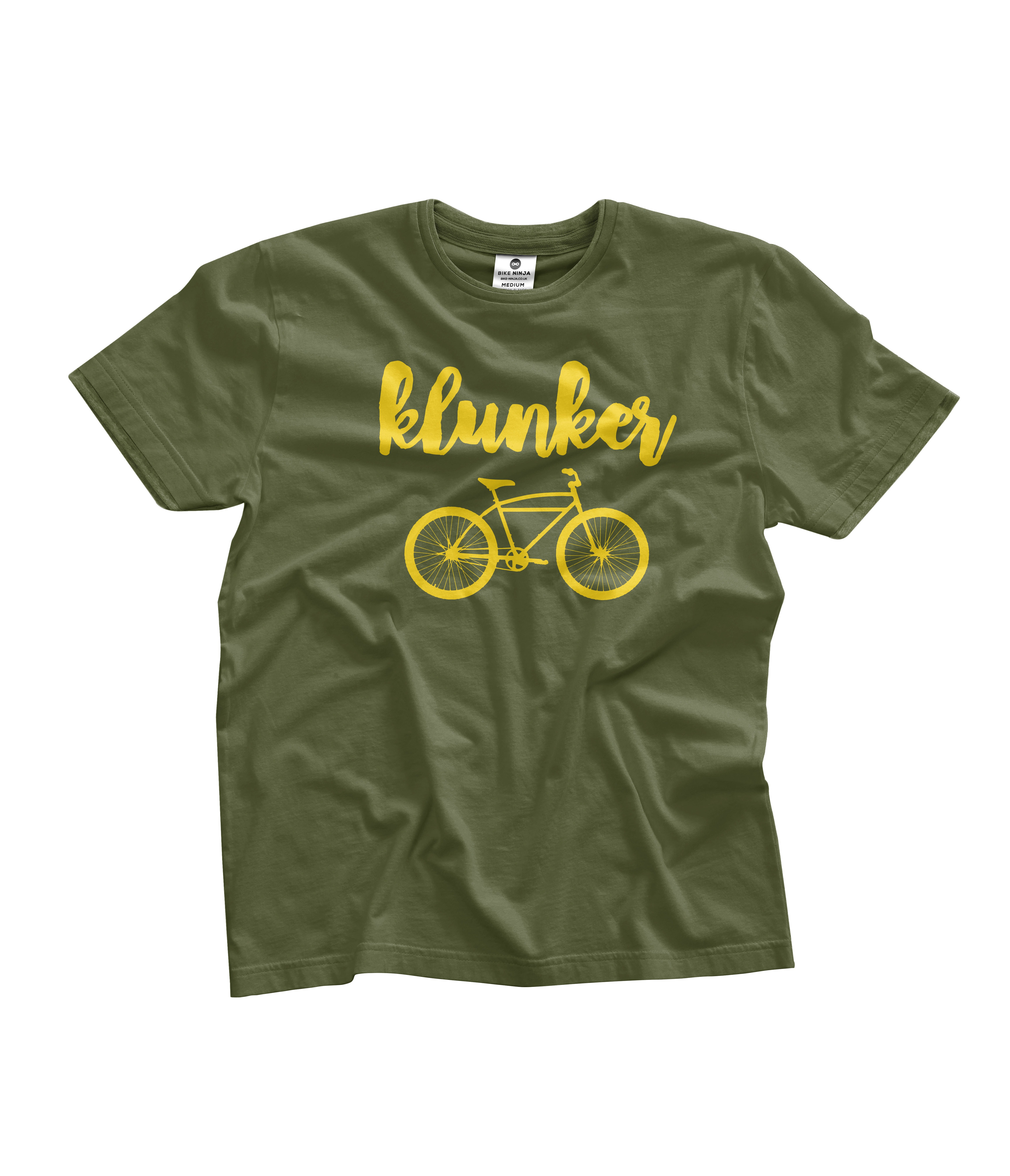Greetings Card Cycling Bike Ninja Klunker
