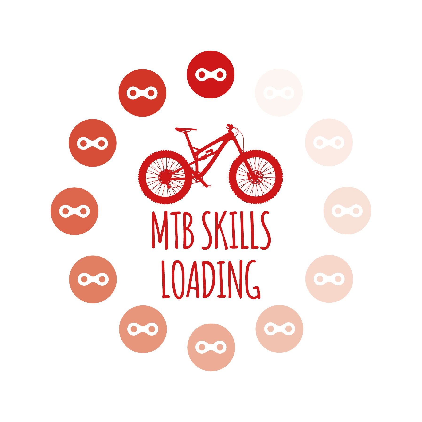 Greetings Card Cycling Bike Ninja MTB Skills Loading