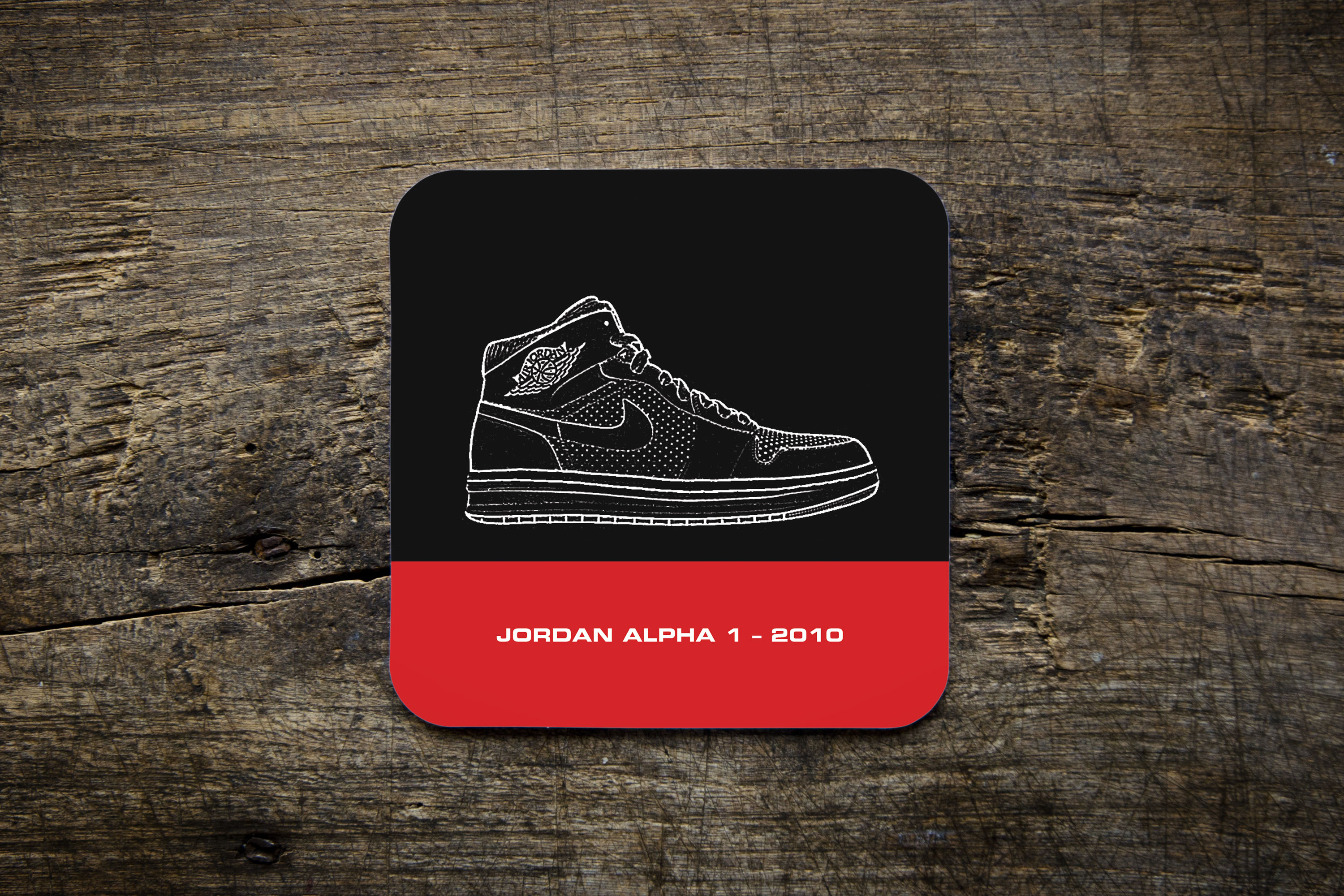 huge selection of 32964 e2059 Air Jordan Collection Coaster - JORDAN ALPHA 1 – 2010 - Bike Ninja