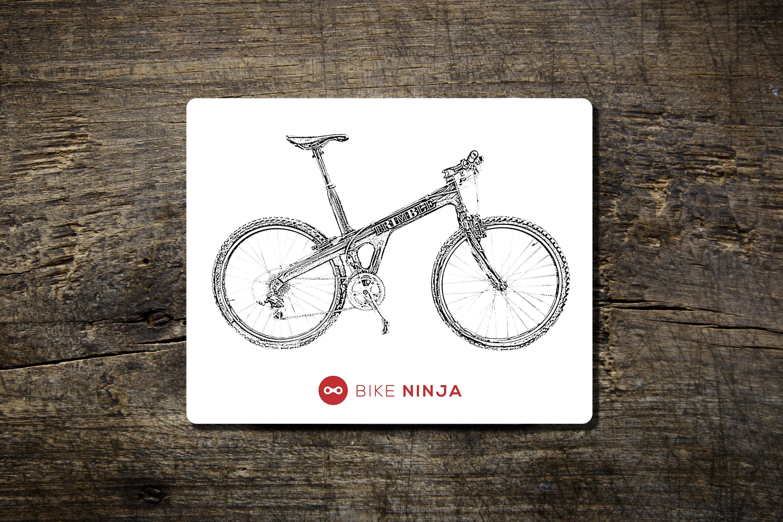 Onza Octopus Mouse Mat Bike Ninja MTB Cycling Retro MBUK