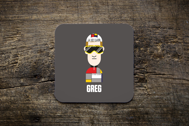 Rich Mitch Legends Greg LeMond Bike Ninja Cycling Mug // Coaster