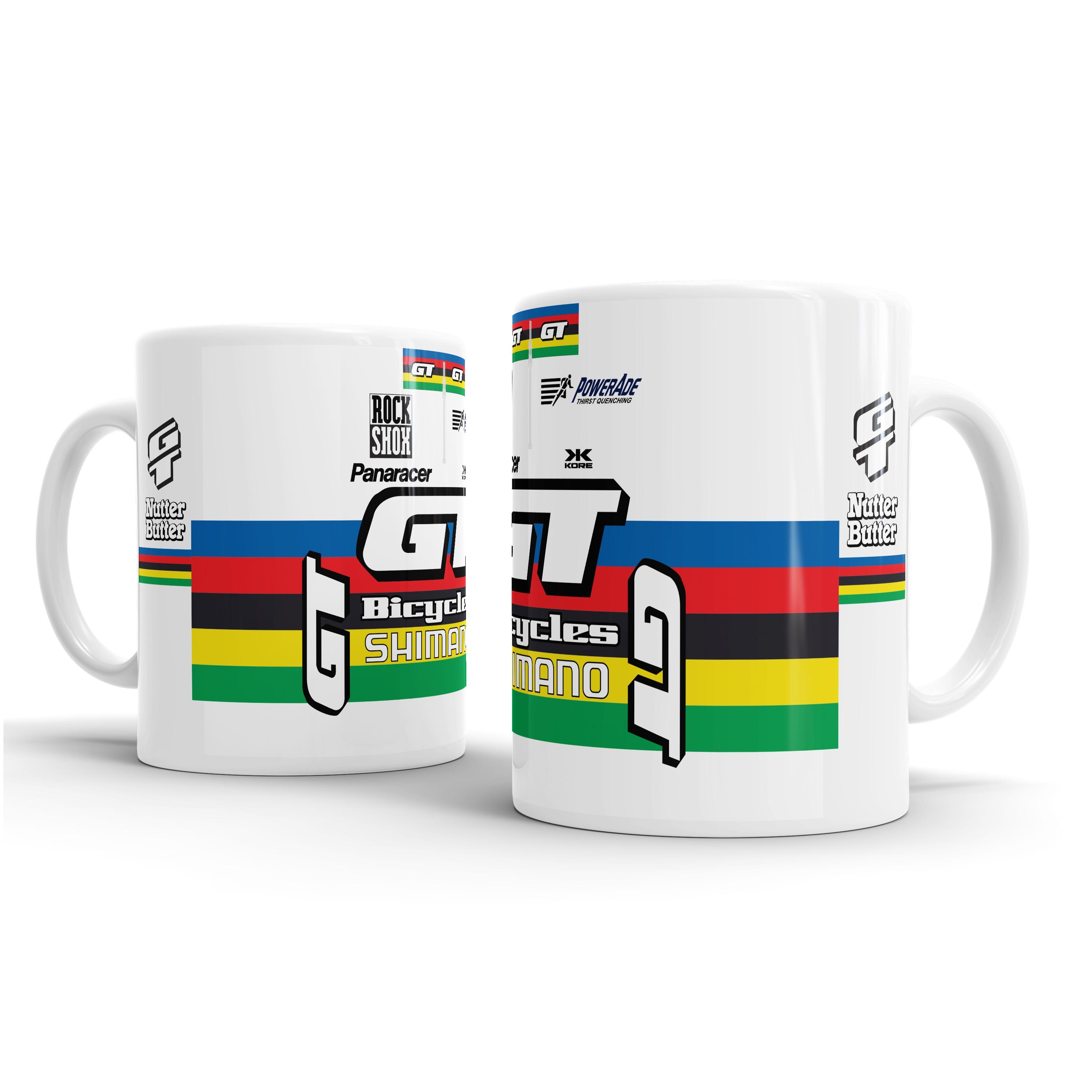 Bike Ninja Jalabert Cycling Zulle ONCE Yellow Retro Jersey Mug Coaster